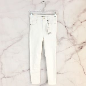 NWT Zara High Waisted White Skinny Jeans